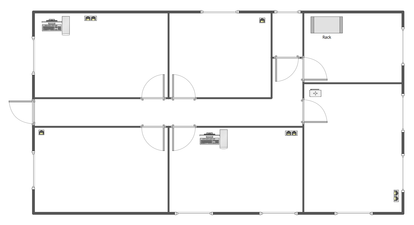 Computer and Networks Network layout floor plans Network Floor Plan Layout template