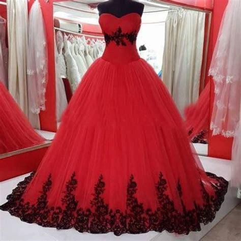 vestidos  quince anos de princesa rojos  ideas