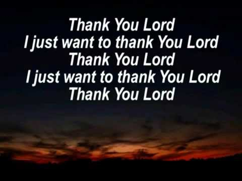 I Just Want To Thank You Lord Lyrics Don Moen