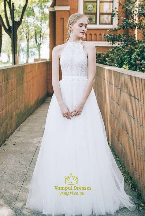 Lace Halter Top Wedding Dresses,Short Halter Top Wedding