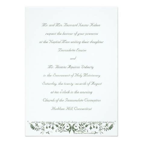 catholic wedding set invitation template cc zazzlecom