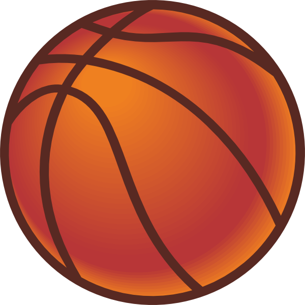 clipart basketball goal. Vector Clip Art Picture of a Basketball and a Goal with Net
