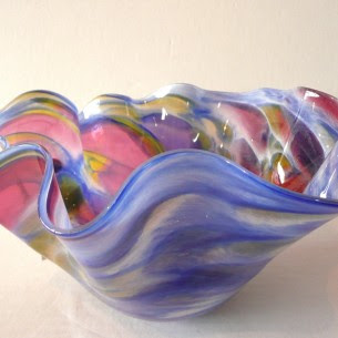 Adam Jablonski. blown glass at Boha Glass