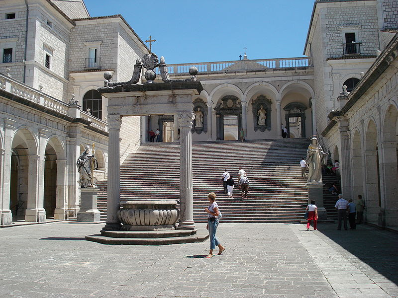 Main steps on Monte Cassino.JPG