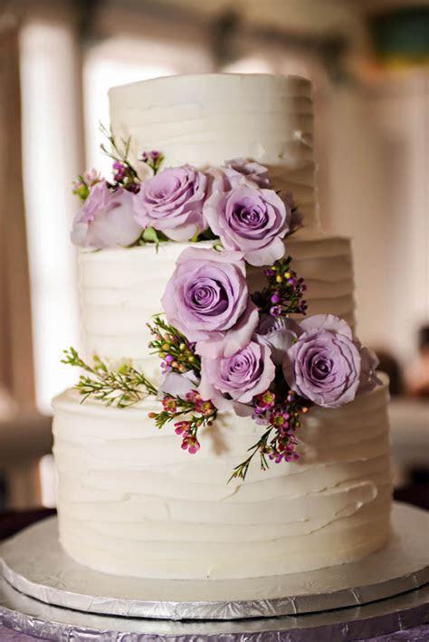 Wedding Cake Wednesday: Rustic Lavender   Disney Weddings