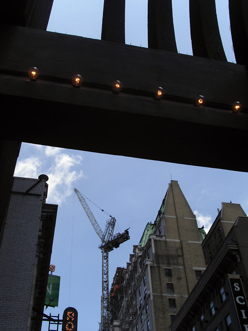 buildings with crane