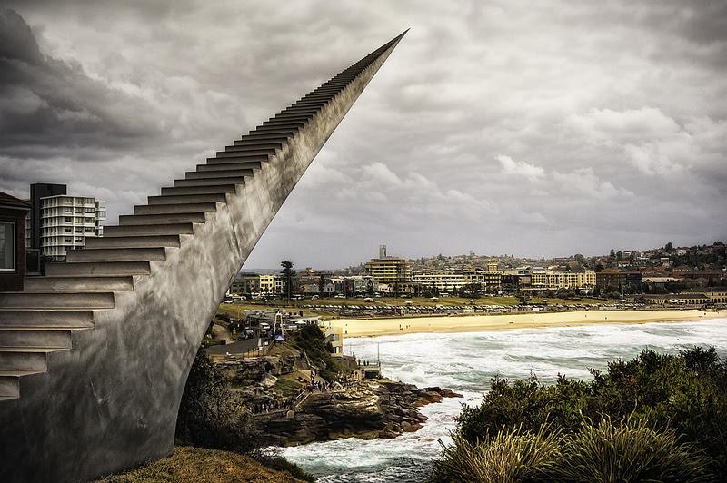An Infinite Staircase by David McCracken sculpture