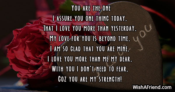 You Are The One Poem For Wife