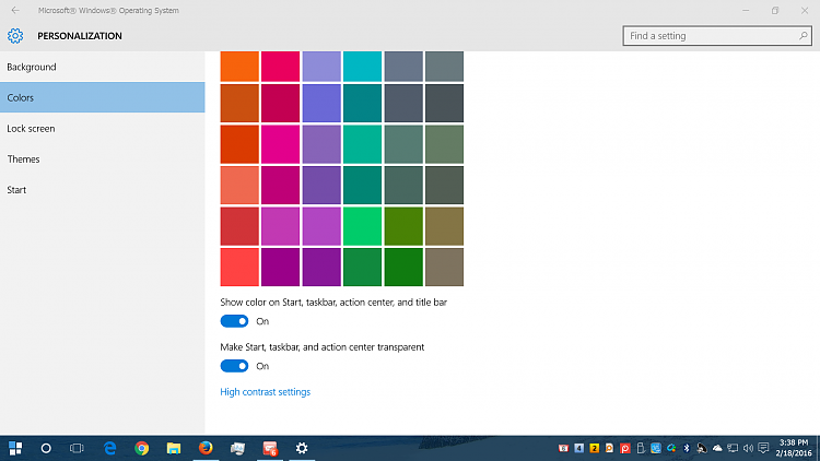 How do I change the background color for the taskbar ...