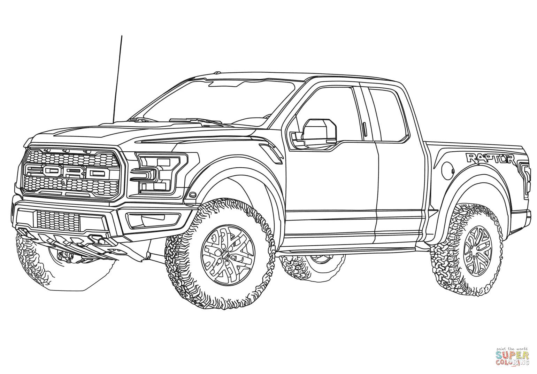 er sur la 2017 Ford F 150 Raptor coloriages