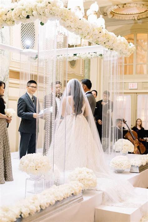 Luxe White Washington DC Wedding   MODwedding