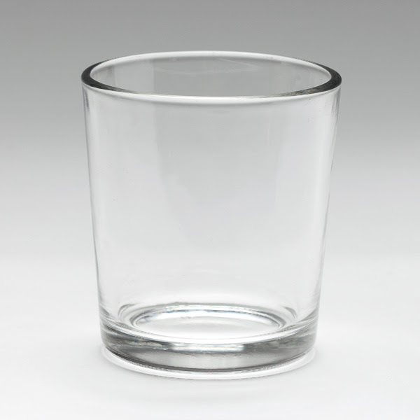 Simple Glass Cylinder Votive Cup - Clear Votive Holder