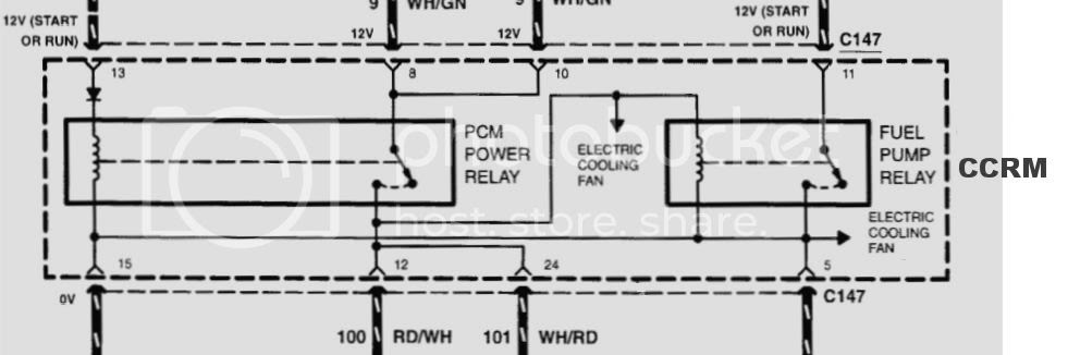 1998 Escort Sport SE CCRM Schematic High fan relay | Ford ...