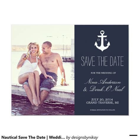 Nautical Save The Date   Wedding Card   Cards, Wedding and