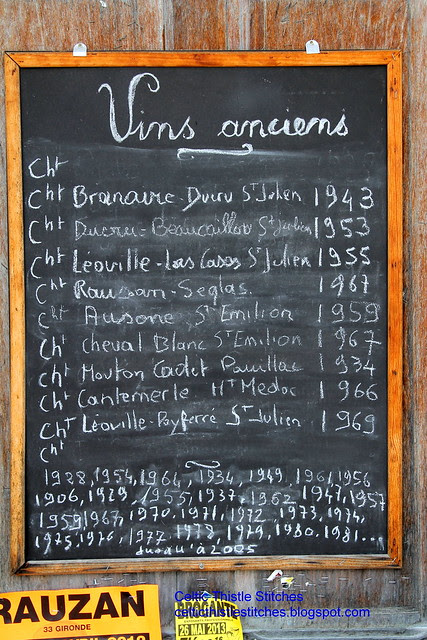 Blackboard wine list
