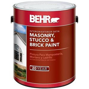 BEHR 1-Gal. Satin Masonry, Stucco and Brick Paint