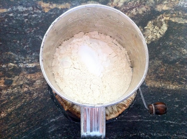 Flour and Baking Soda in Sifter