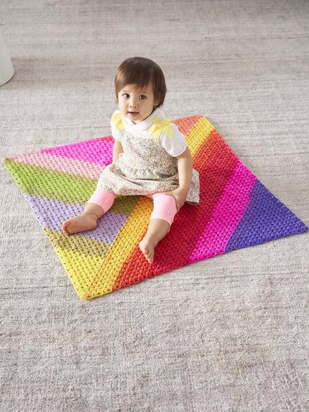 Granny Triangles Afghan (Crochet) - Free Crochet Pattern