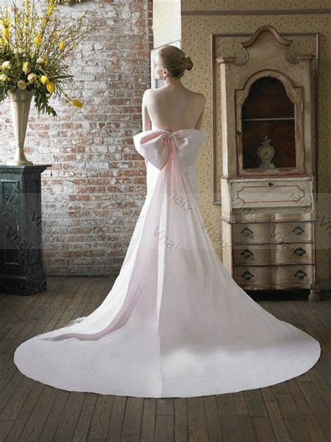 Wedding Dress With Bow In Back
