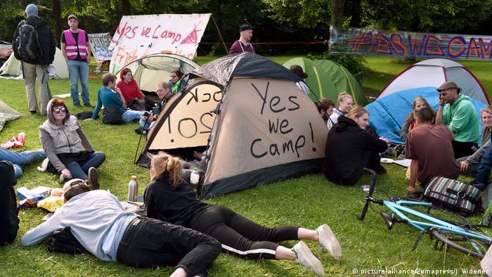 Deutschland G20 Gipfel Proteste (picture-alliance/Zumapress/J. Widener)