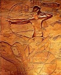 Ramesses II at The Battle of Kadesh (Cave cattum)