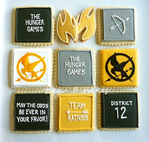 The Hunger Games Cookies - Free Party Printables
