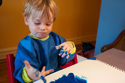 First finger painting