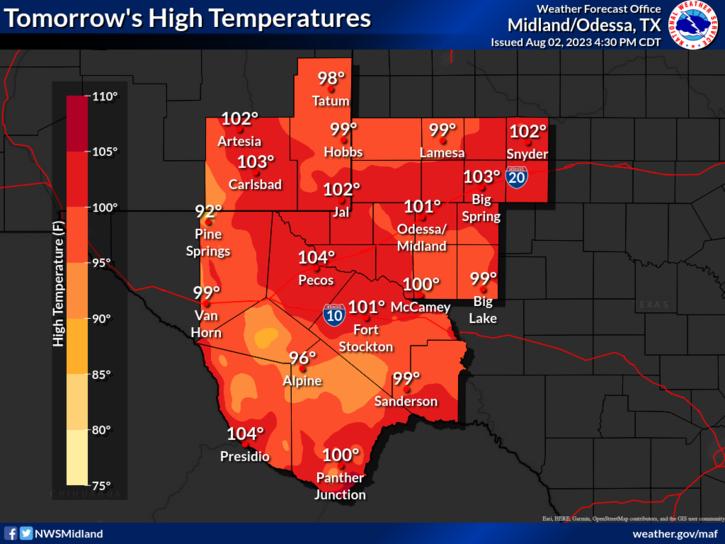 NWS Midland Regional Forecast
