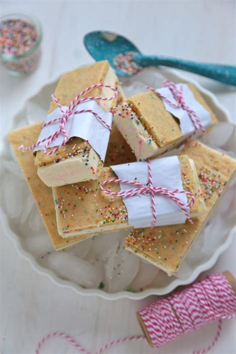 Homemade Birthday Cake Ice Cream Sandwiches   Country Cleaver