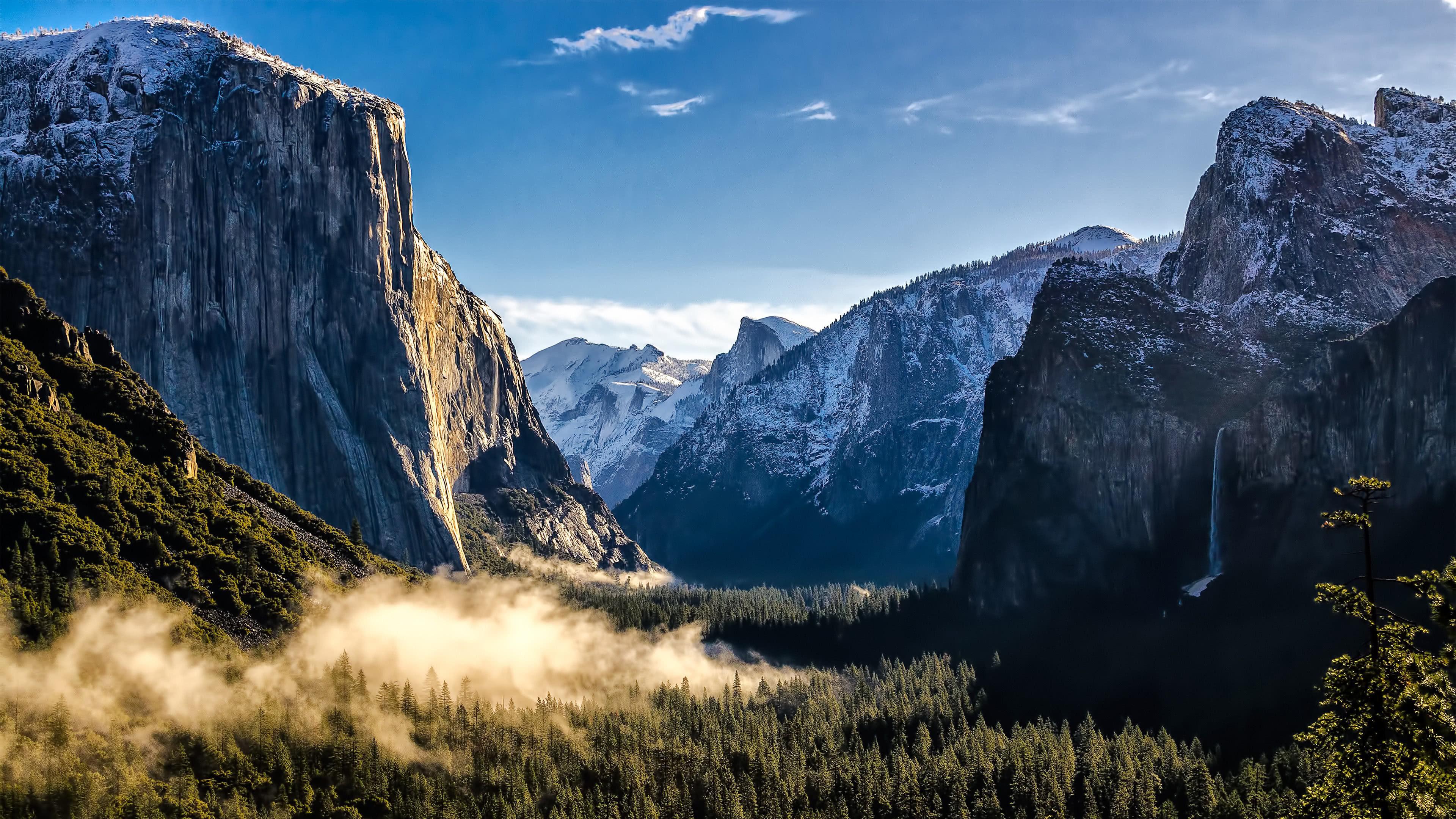 El Capitan Rock Formation, Yosemite National Park, California, United States 4k UHD [3840 X 2160]