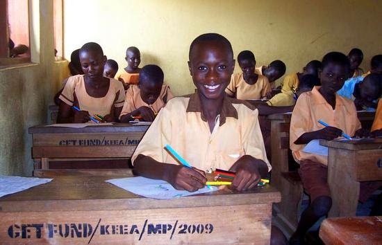 Lovely photo of one of Sue's cheerful students in Ghana.