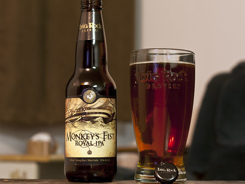 Review: Big Rock Monkey's Fist Royal IPA by Cody La Bière