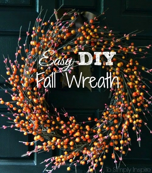 Easy DIY Fall Wreath by To Simply Inspire