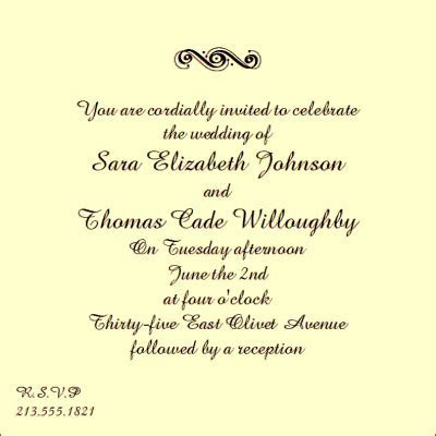 wording for wedding invitations   A Creative Life