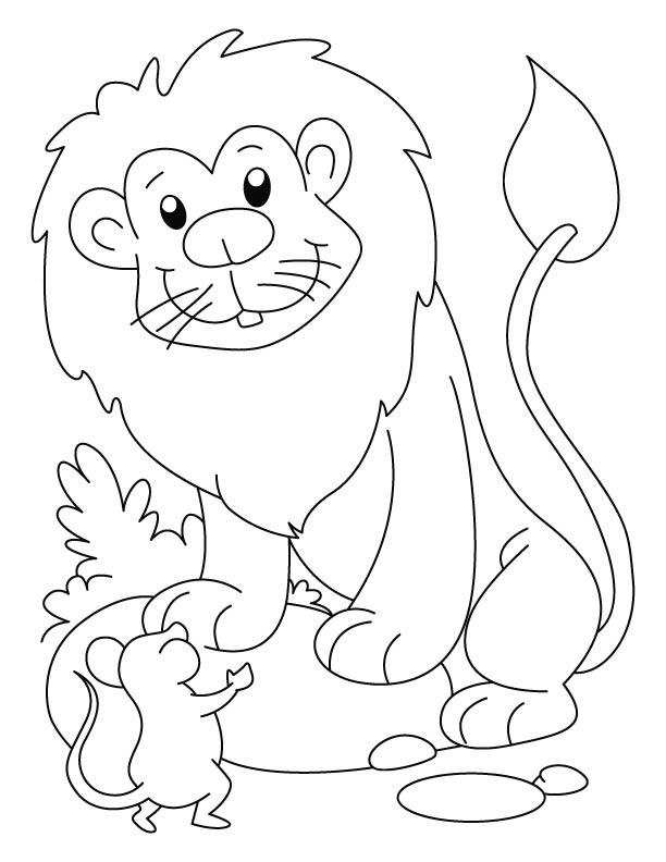 lion coloring page2