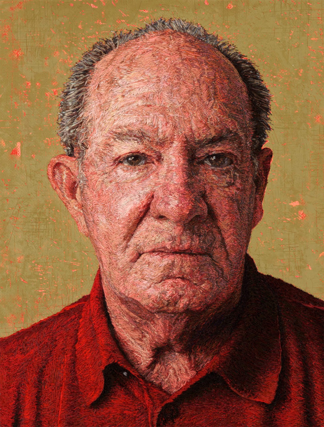 Thread Paintings: Densely Embroidered Portraits by Cayce Zavaglia portraits photorealism embroidery