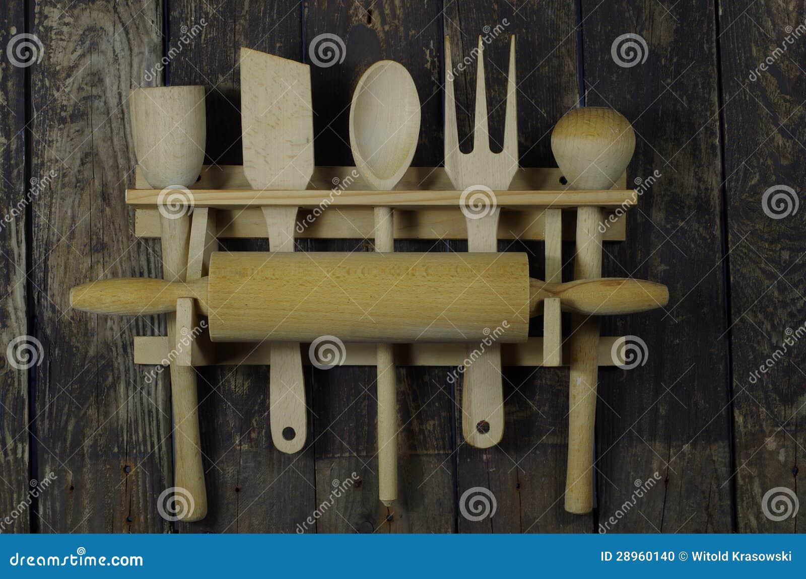 Wooden Kitchen Accessories Stock Photo - Image: 28960140