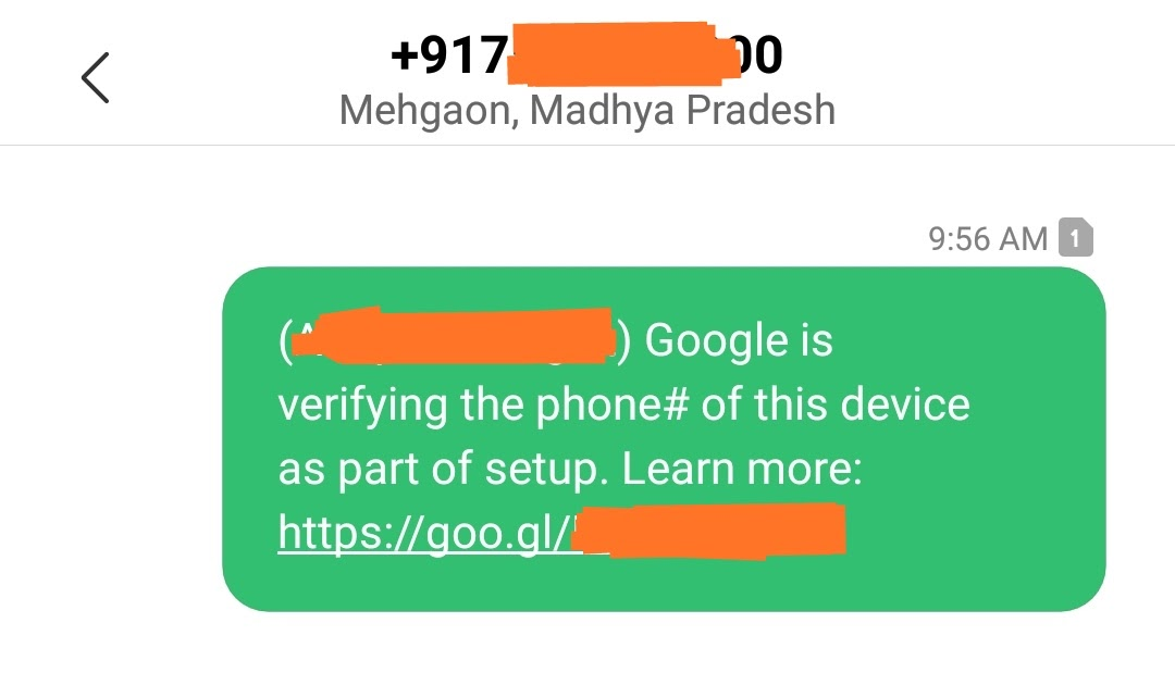 google is reverifying the phone number of this device
