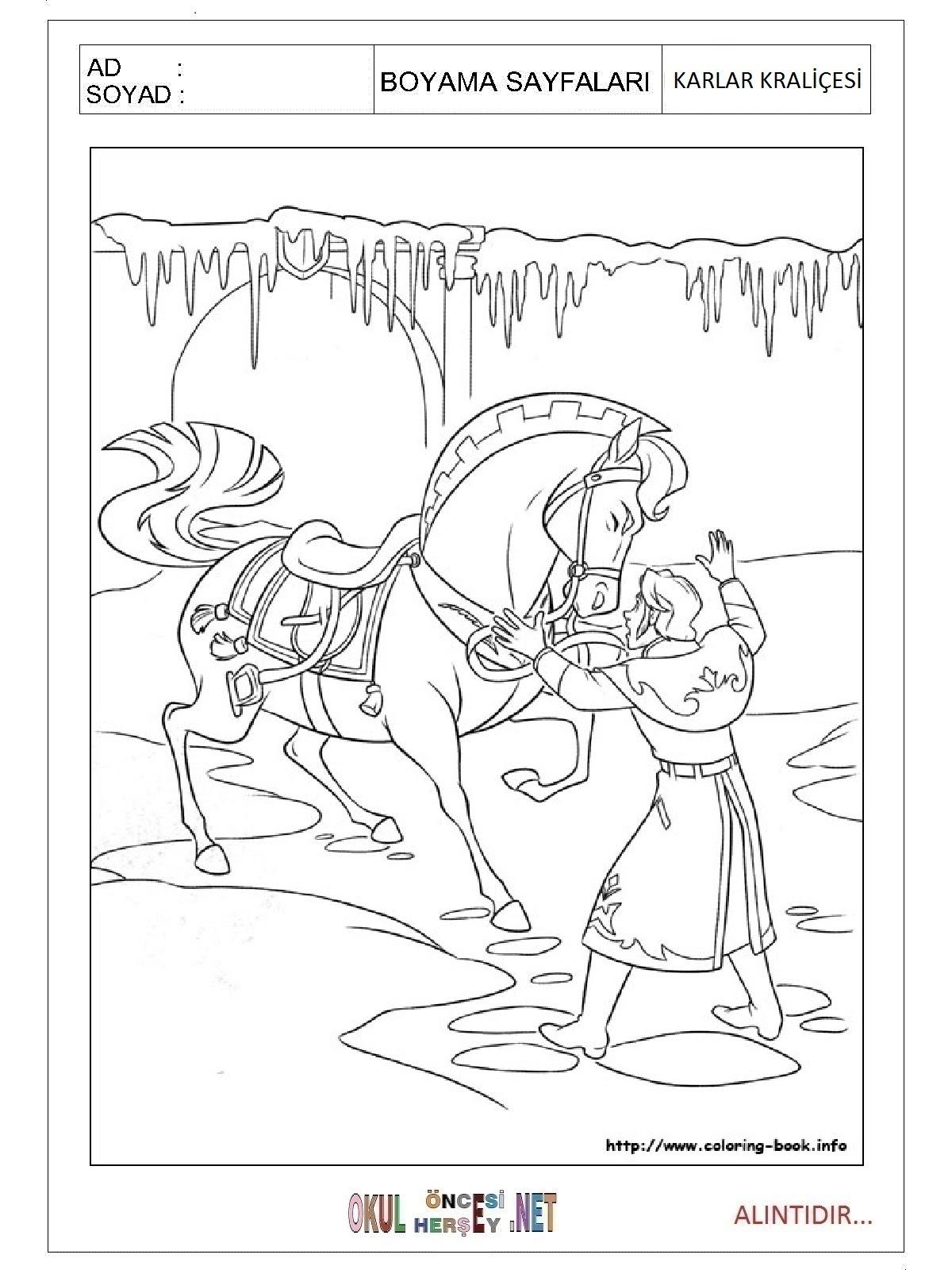 Karlar Kraliçesi Boyama Sayfaları