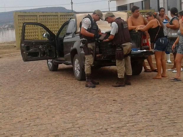 Bebê e avô foram socorridos para o Hospital do Oeste, mas criança não resistiu (Foto: Luís Felipe/ Blog do Sigi Vilares)