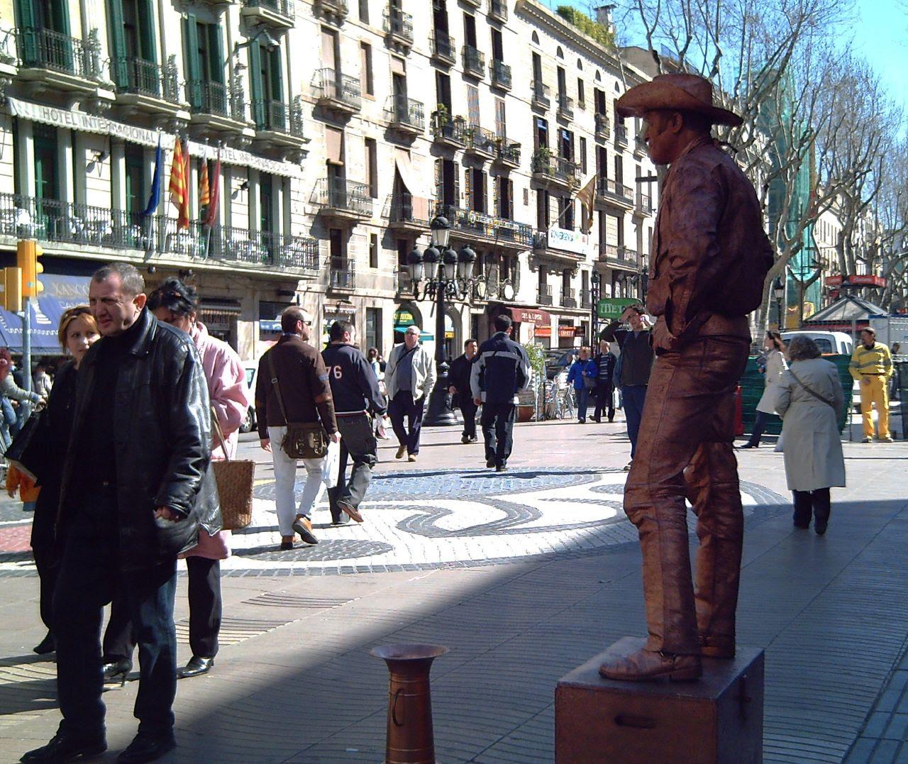 Barcelona Artists: Las Ramblas Cowboy