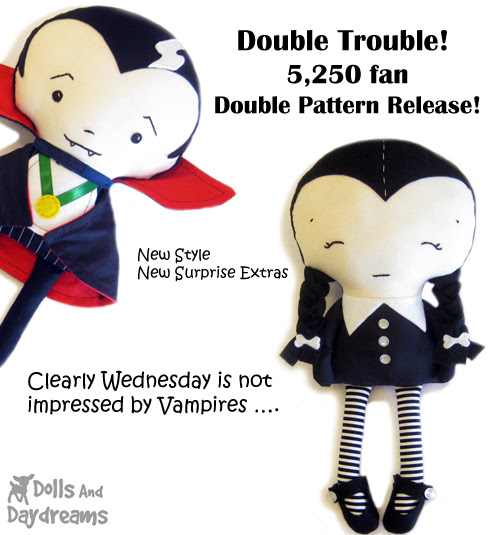 Vampire and halloween doll promo sewing pattern copy