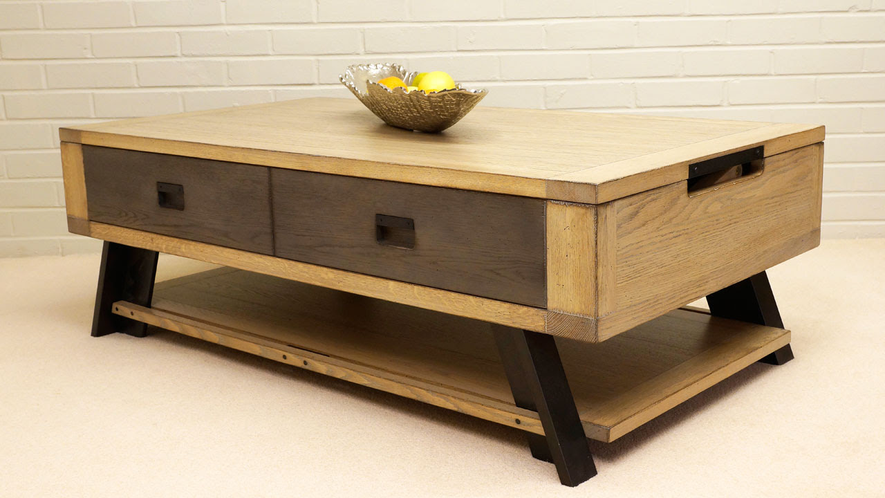 Industrial Lift Up Coffee Table   GHShaw Ltd