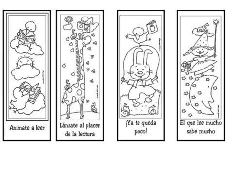 Marcapáginas Para La Animación De La Lectura Dibujalia Dibujos