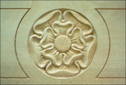 Hand Carved Tudor Rose in Oak by Wood Carver, Jose Sarabia