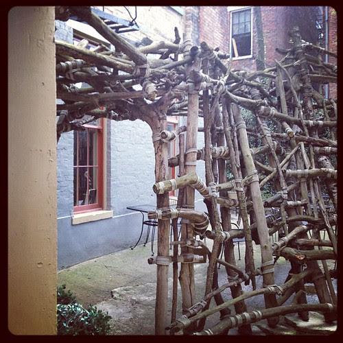 A magical courtyard hidden behind an unassuming busing in OTR
