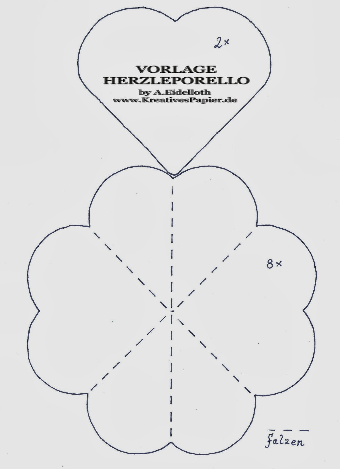 Stempeleinmaleins: Herz-Leporello - heart-leporello