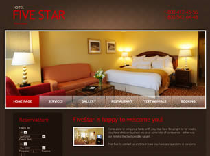 Five Star Hotel Free CSS Template