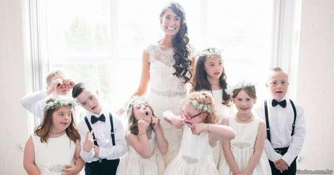 Professora de educação especial convida todos os seus alunos para seu casamento
