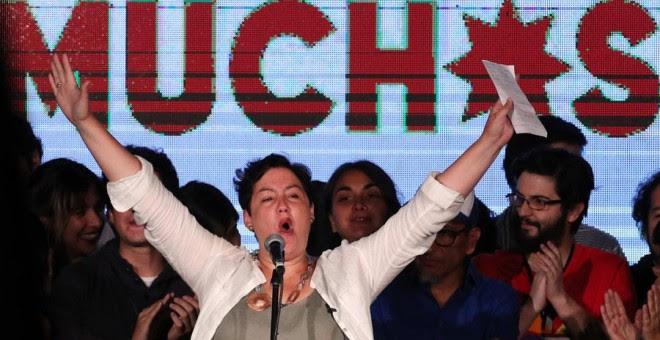 La candidata presidencial de la coalición izquierdista Frente Amplio, Beatriz Sánchez.- EFE